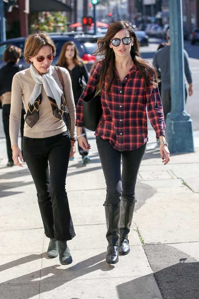 Camilla Belle Was Siin in a Plaid Shirt in Beverly Hills-5