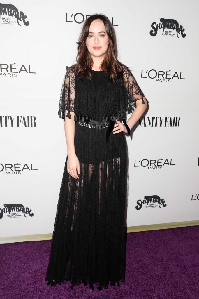 Dakota Johnson at the Vanity Fair and L'Oreal Paris Toast to Young Hollywood at Delilah in West Hollywood-1
