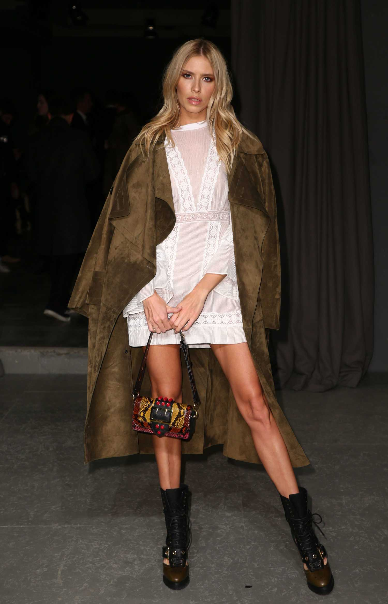 Elena perminova at the burberry show during the london fashion week celeb donut - Burberry fashion show ...