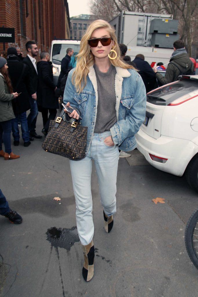 Elsa Hosk Arrives at the Max Mara Show During the Milan Fashion Week-1
