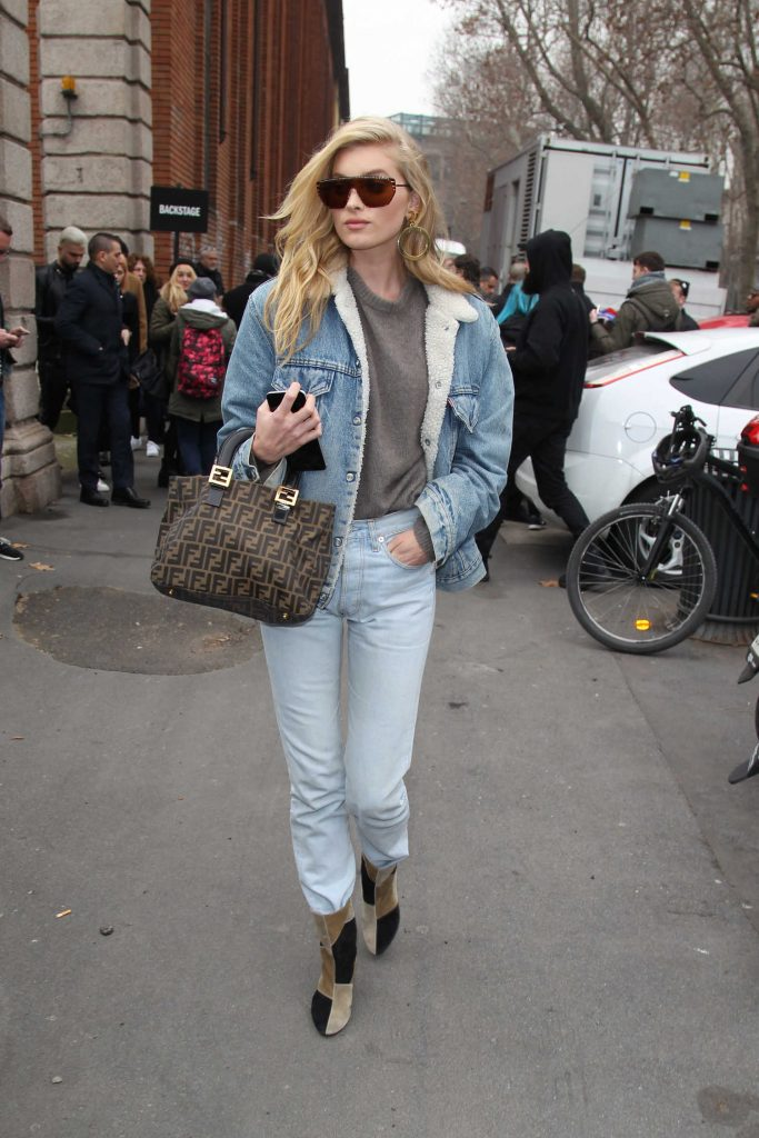 Elsa Hosk Arrives at the Max Mara Show During the Milan Fashion Week-2