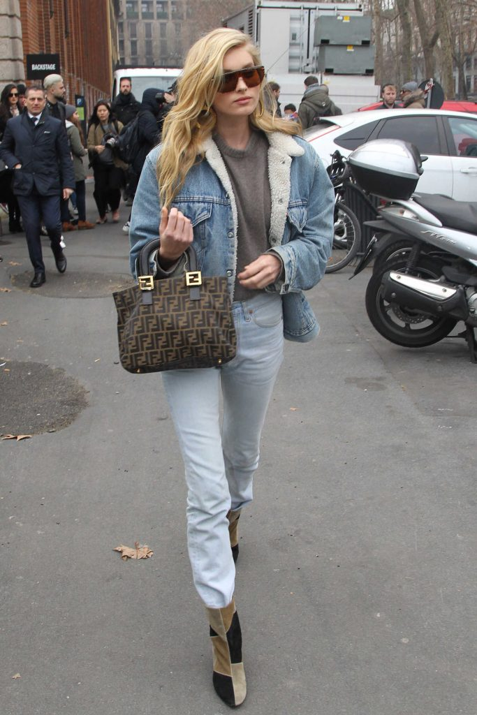 Elsa Hosk Arrives at the Max Mara Show During the Milan Fashion Week-3