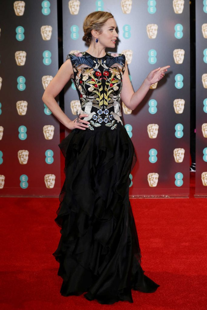 Emily Blunt at the 70th Annual EE British Academy Film Awards in London-3