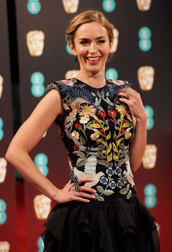 Emily Blunt at the 70th Annual EE British Academy Film Awards in London-5