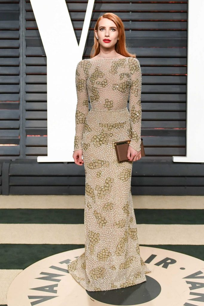 Emma Roberts at the 2017 Vanity Fair Oscar Party Hosted by Graydon Carter in Beverly Hills-1