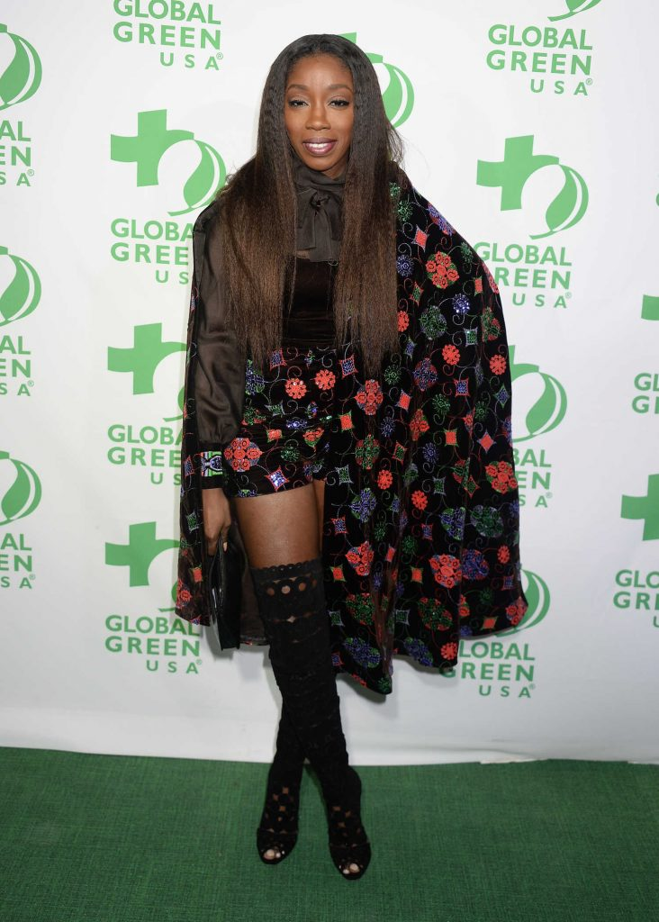 Estelle at the Global Green's Annual Pre-Oscar Party in Los Angeles-1