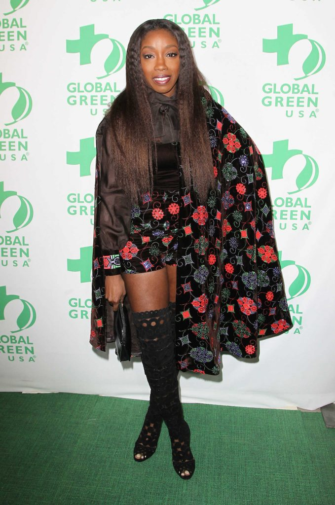 Estelle at the Global Green's Annual Pre-Oscar Party in Los Angeles-2