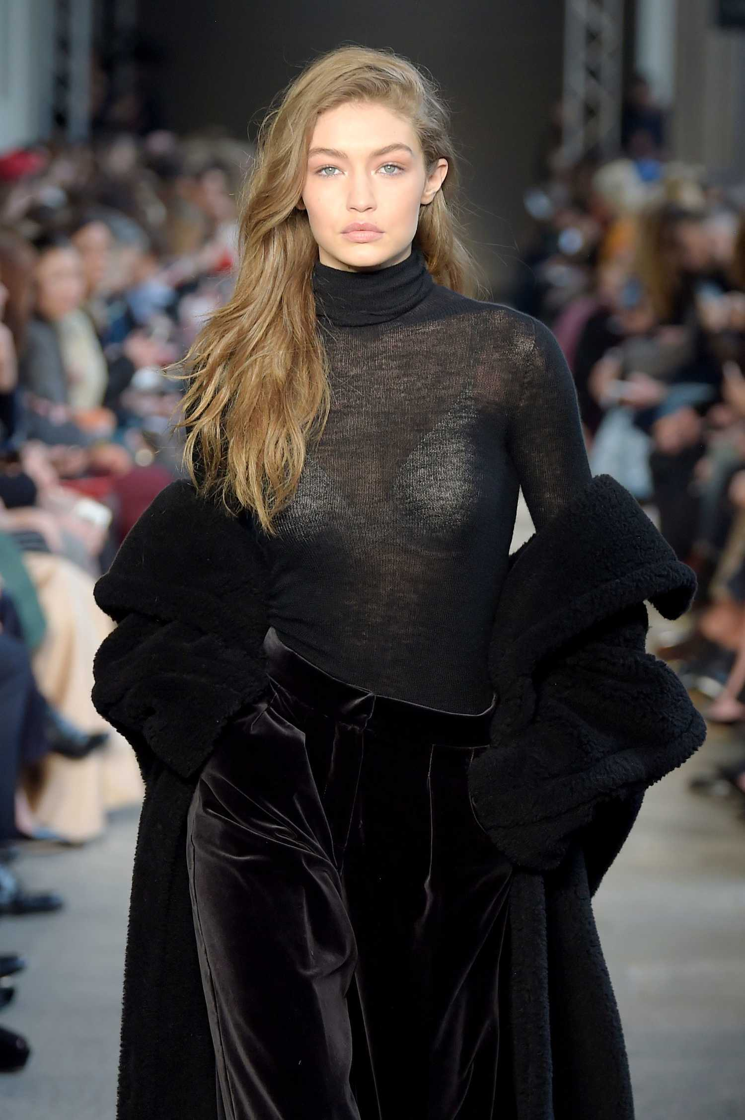 Gigi hadid at the max mara show during the milan fashion for Gigi hadid fashion week