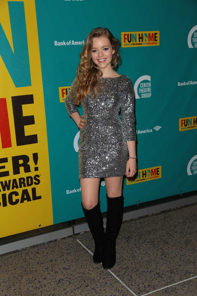 Jade Pettyjohn at the Media Tip Fun Home at Ahmanson Theatre in Los Angeles-1