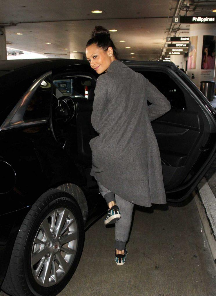 Thandie Newton Arrives in Los Angeles-4