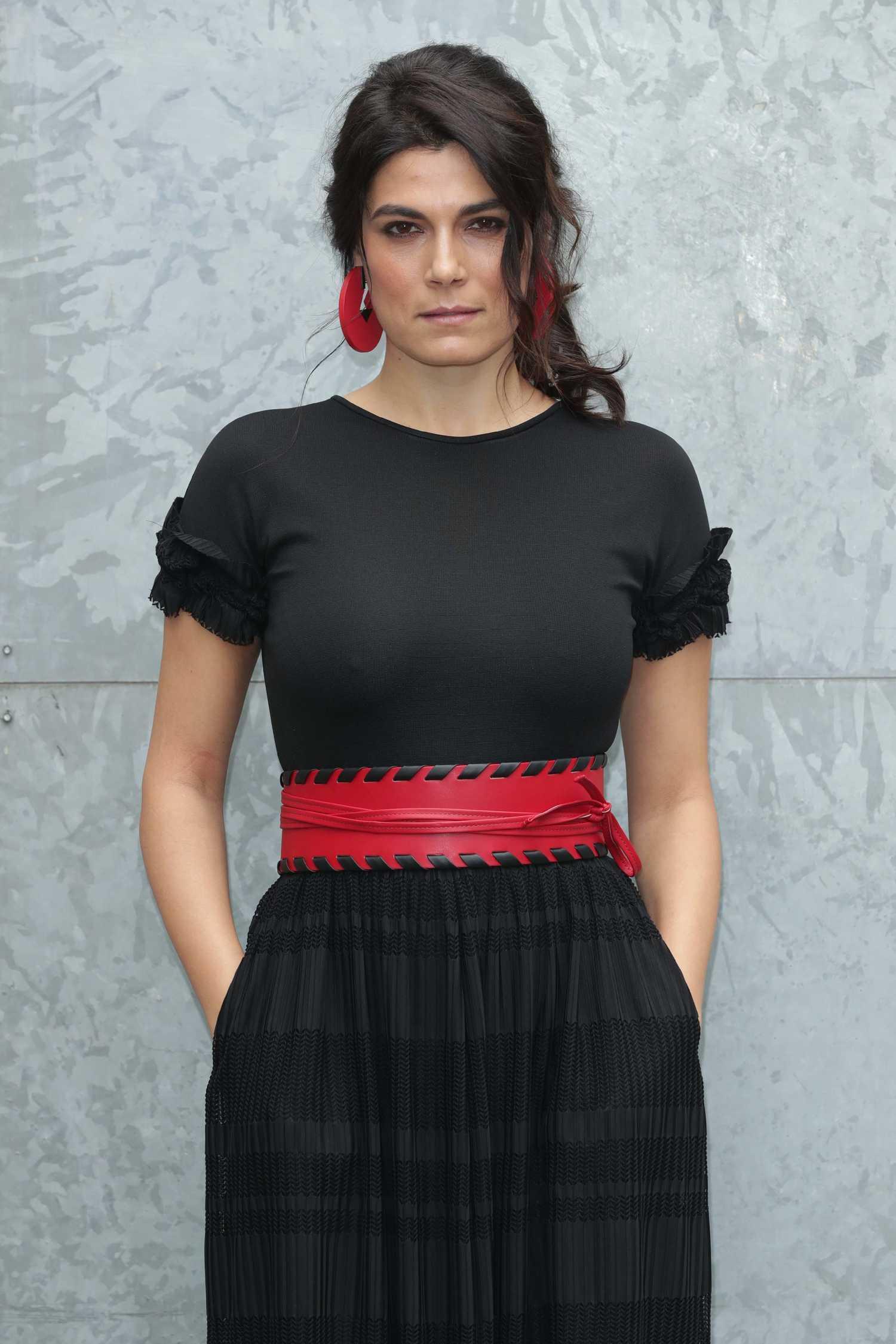 Valeria Solarino At Emporio Armani Show During The Milan