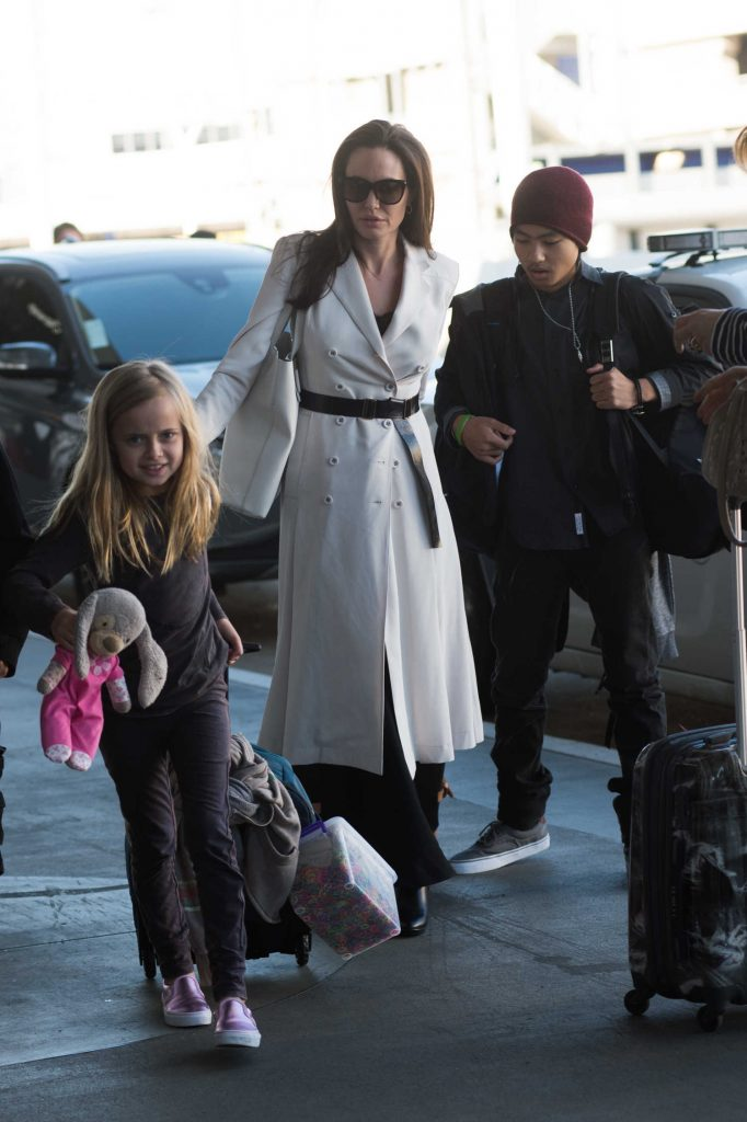 Angelina Jolie Arrives at LAX Airport in LA-1