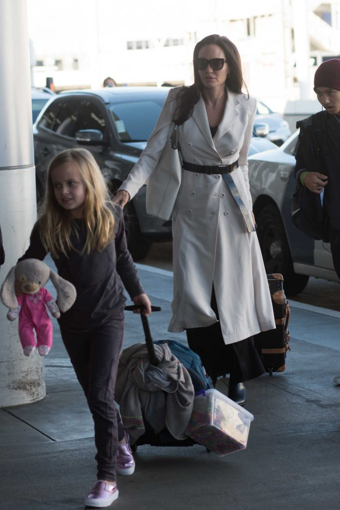 Angelina Jolie Arrives at LAX Airport in LA-2