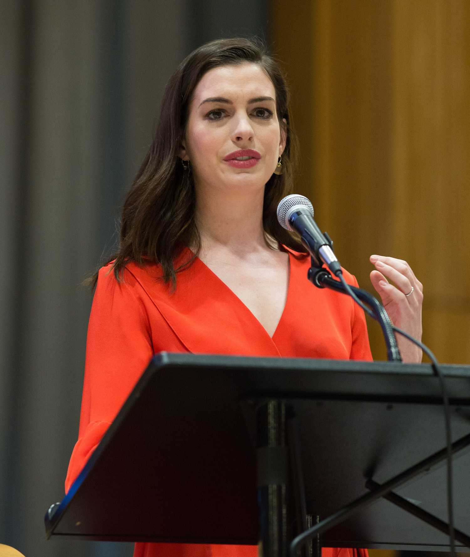 Anne Hathaway At International Women's Day At United