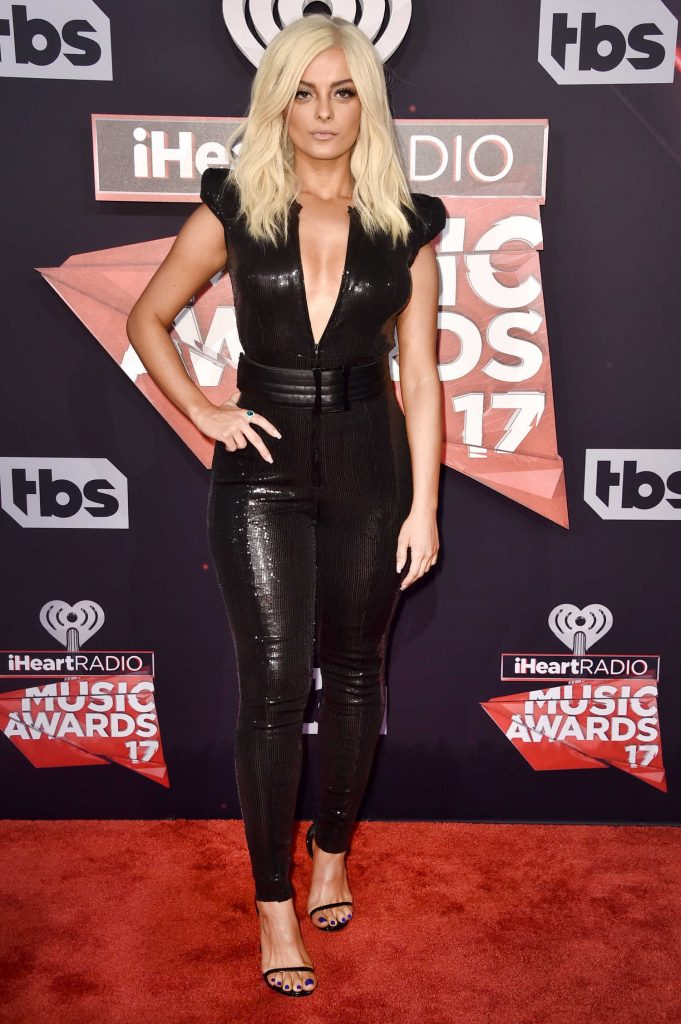 Bebe Rexha at the 2017 iHeartRadio Music Awards in Los Angeles-1