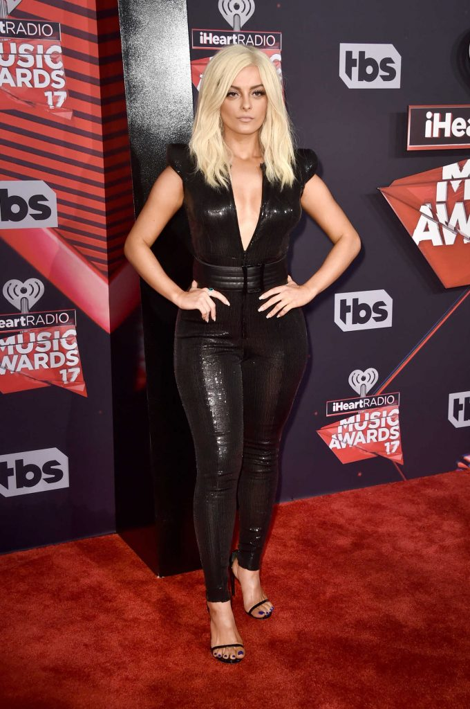 Bebe Rexha at the 2017 iHeartRadio Music Awards in Los Angeles-2