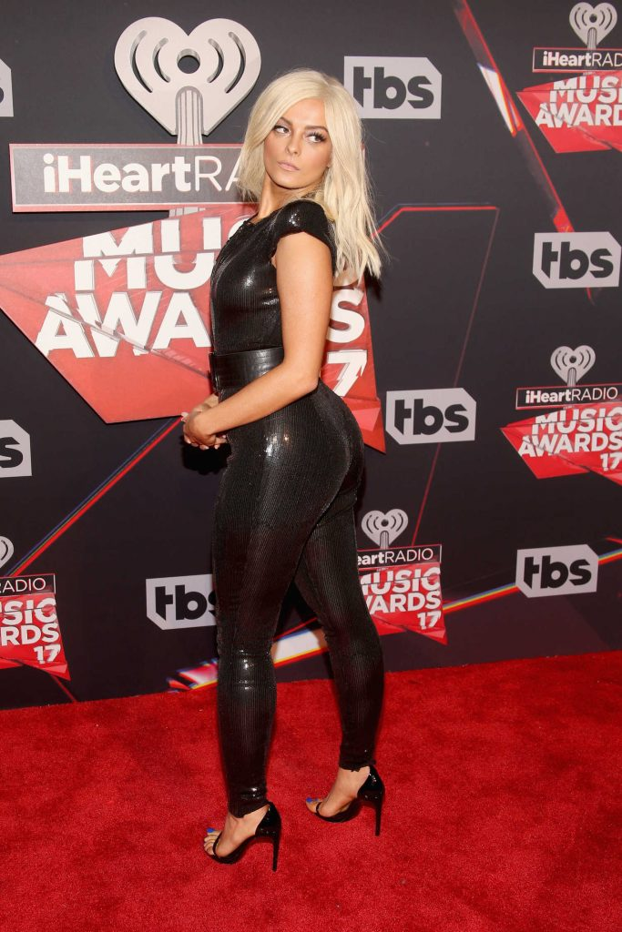 Bebe Rexha at the 2017 iHeartRadio Music Awards in Los Angeles-3