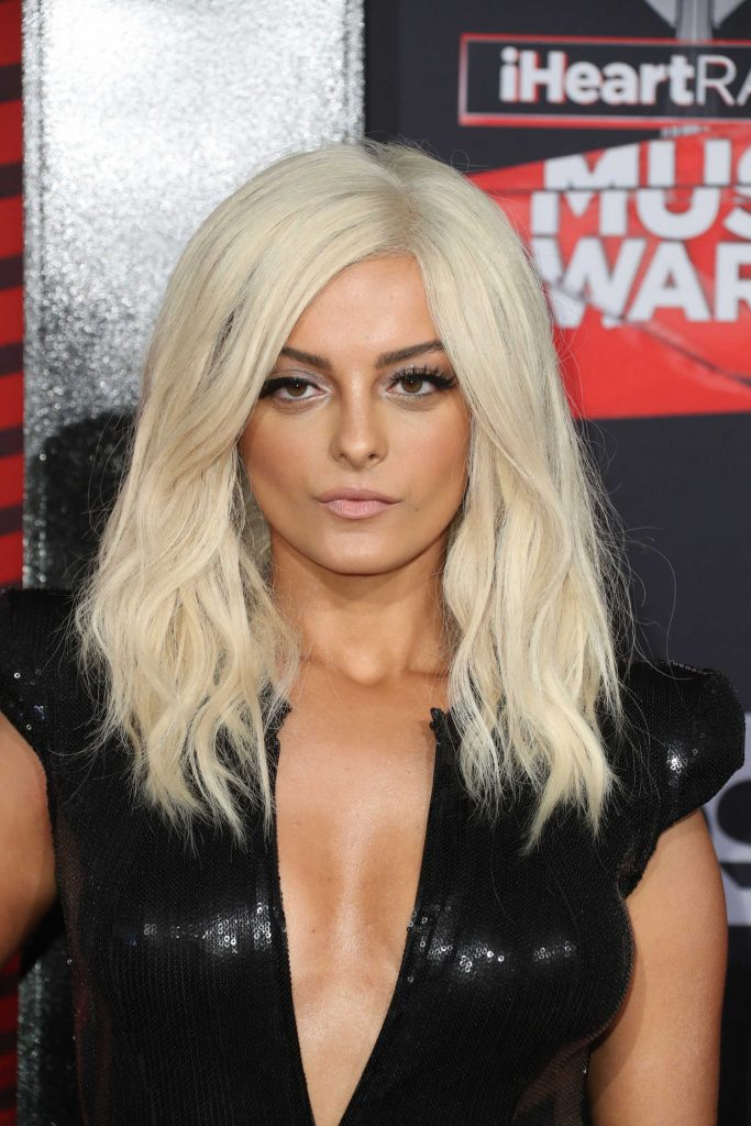 Bebe Rexha at the 2017 iHeartRadio Music Awards in Los Angeles-5