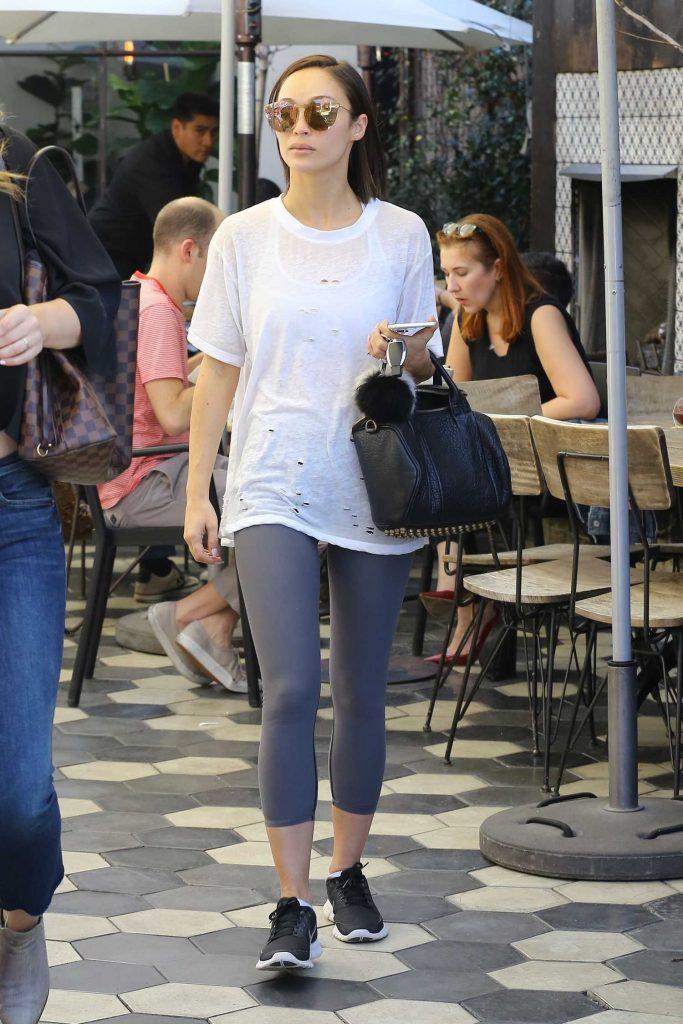 Cara Santana Leaves Zinque Cafe in Los Angeles-1