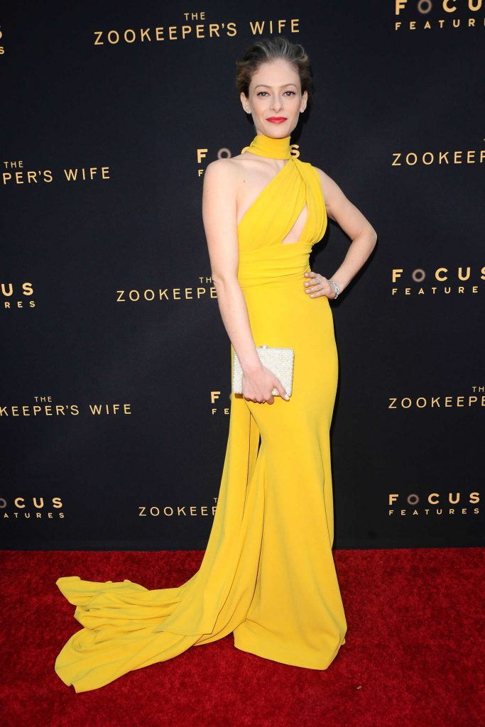 Efrat Dor at The Zookeeper's Wife Premiere in Los Angeles-1