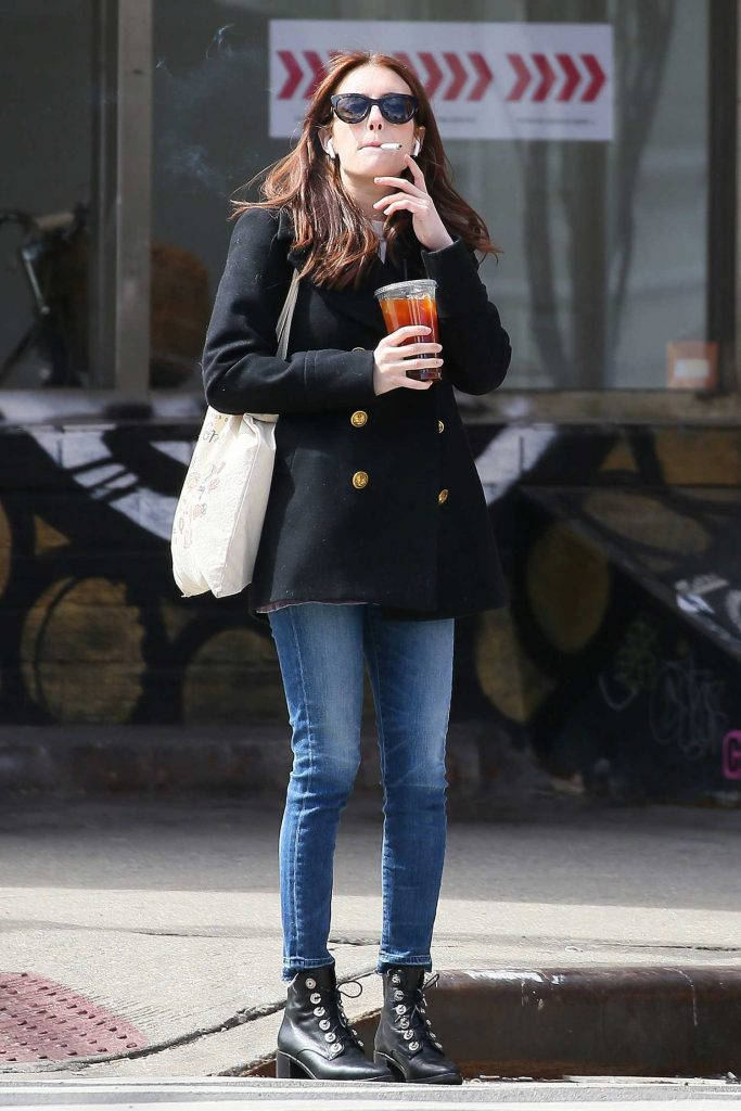 Emma Roberts Has a Smoke While Out in New York-1