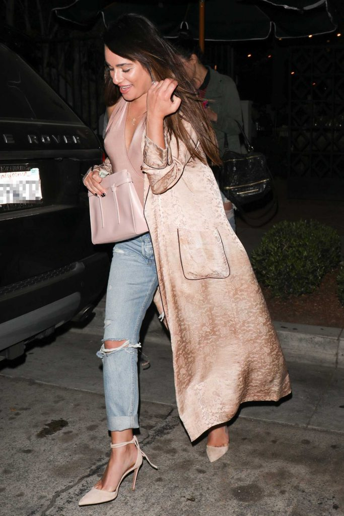 Lea Michele Leaves Gracias Madre Restaurant in West Hollywood-1