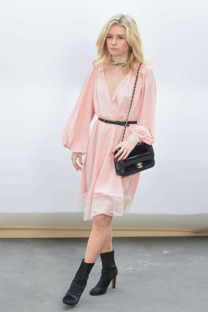 Lottie Moss at the Chanel Show During the Paris Fashion Week-2