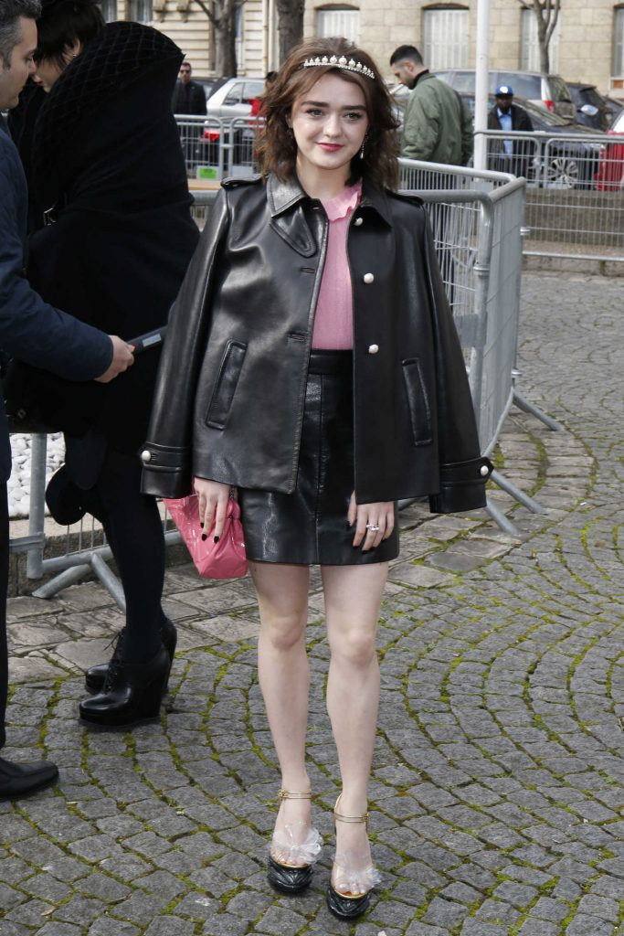 Maisie Williams at the Miu Miu Show During the Paris Fashion Week-1