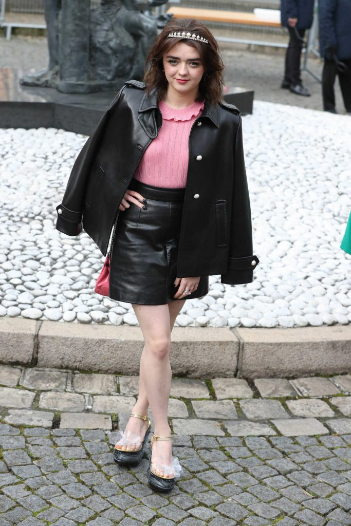 Maisie Williams at the Miu Miu Show During the Paris Fashion Week-2