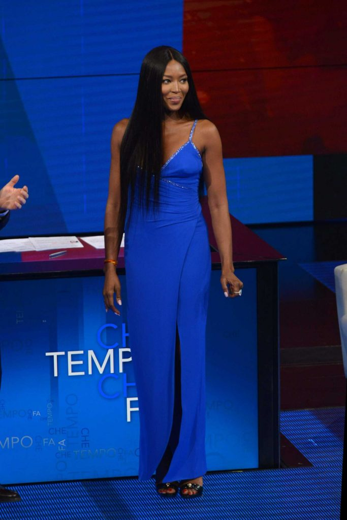 Naomi Campbell at Italian Television Show Che Tempo Che Fa in Milan-1