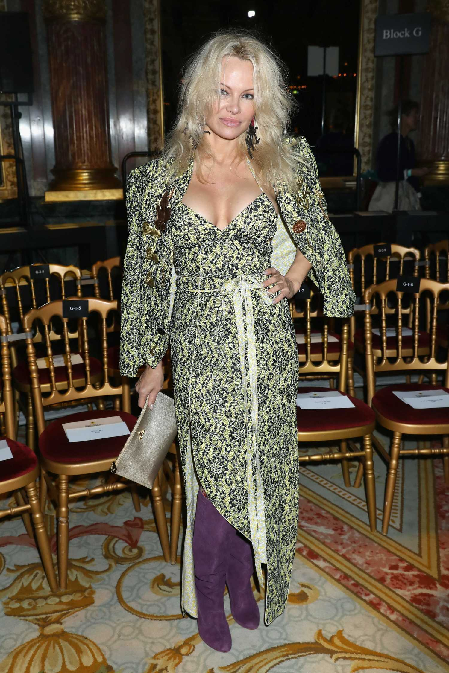 Pamela Anderson At The Christian Dior Show During The
