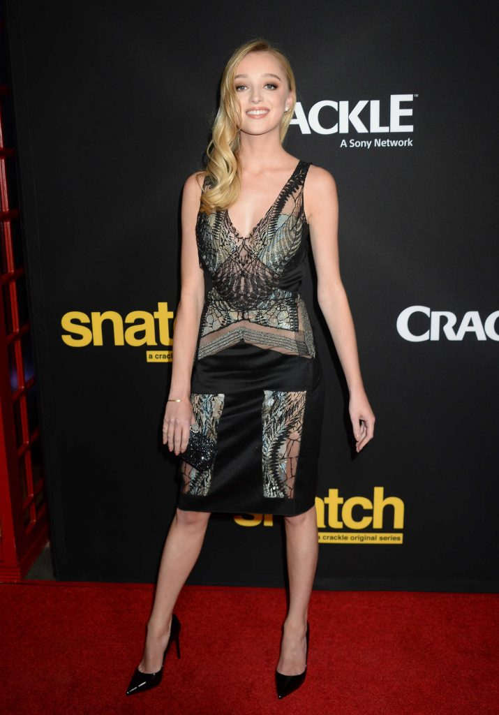 Phoebe Dynevor at the Crackle's Snatch Screening in Los Angeles-1