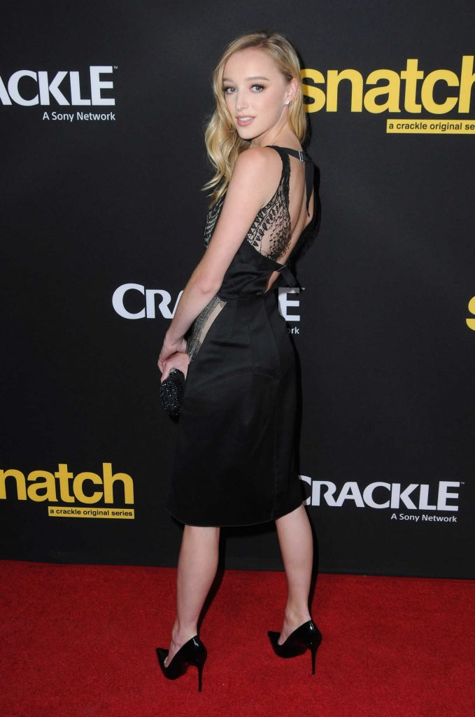 Phoebe Dynevor at the Crackle's Snatch Screening in Los Angeles-3