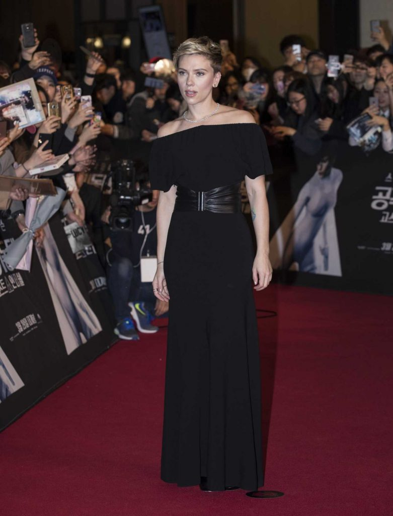 Scarlett Johansson at the Korean Red Carpet Fan Event of the Ghost In The Shell Release in Seoul-1