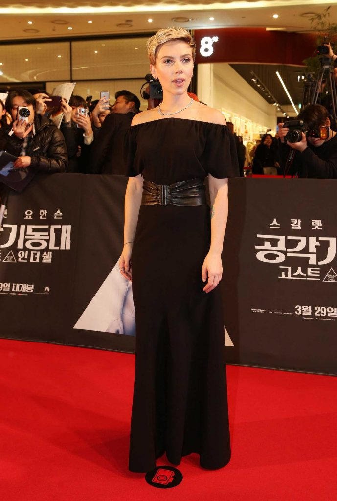 Scarlett Johansson at the Korean Red Carpet Fan Event of the Ghost In The Shell Release in Seoul-2