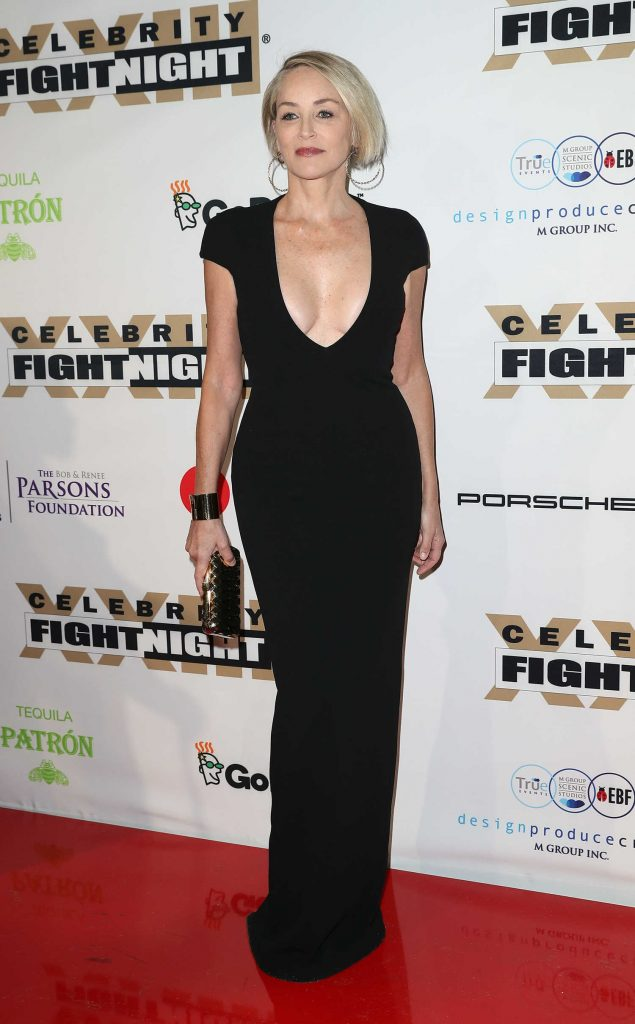 Sharon Stone at the Muhammad Ali's Celebrity Fight Night in West Hollywood-1