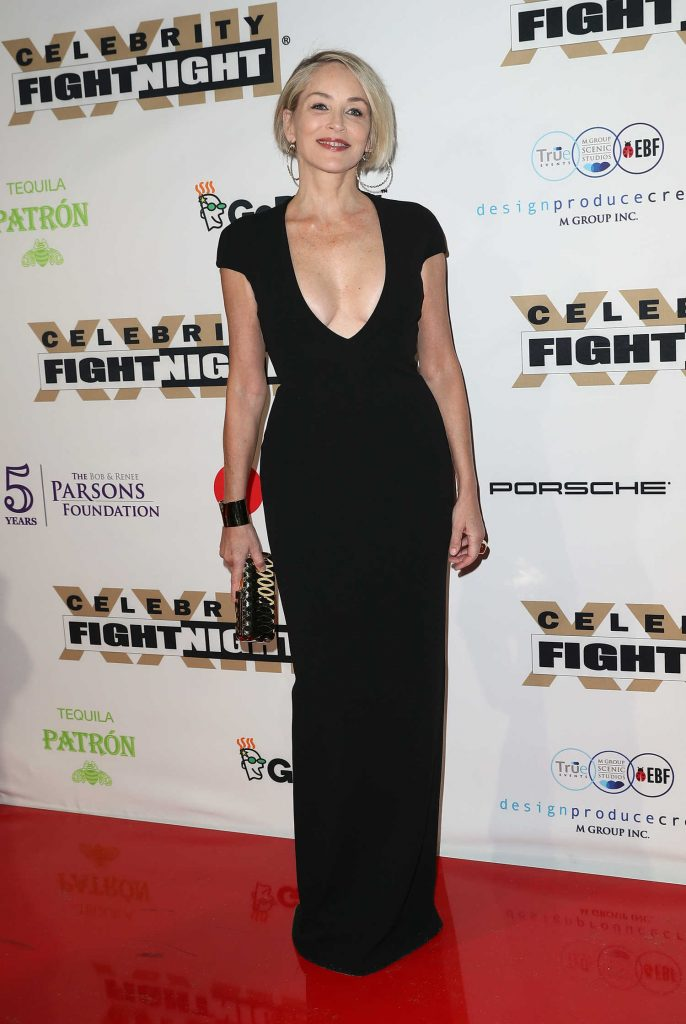 Sharon Stone at the Muhammad Ali's Celebrity Fight Night in West Hollywood-2