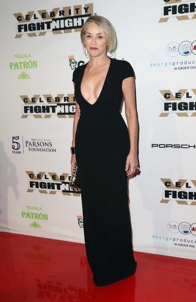 Sharon Stone at the Muhammad Ali's Celebrity Fight Night in West Hollywood-3