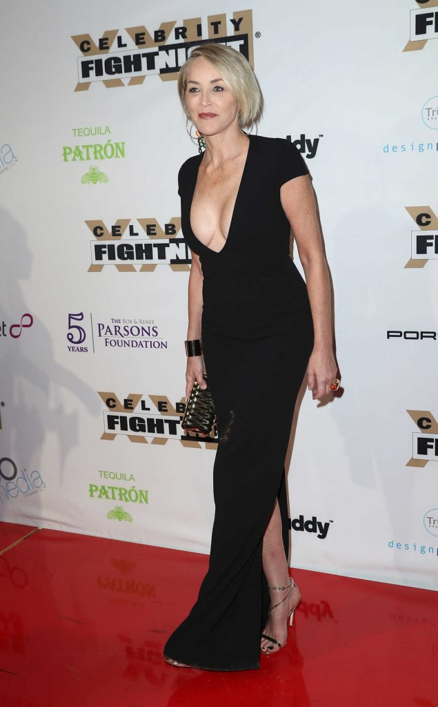 Sharon Stone at the Muhammad Ali's Celebrity Fight Night in West Hollywood-4