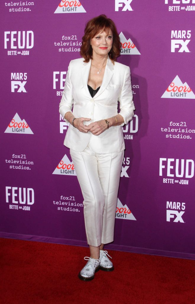 Susan Sarandon at the Feud: Bette and Joan TV Series Premiere in Los Angeles-1