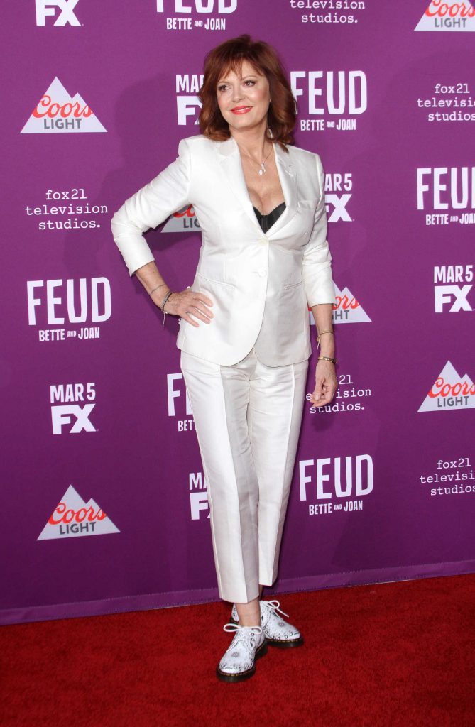 Susan Sarandon at the Feud: Bette and Joan TV Series Premiere in Los Angeles-2
