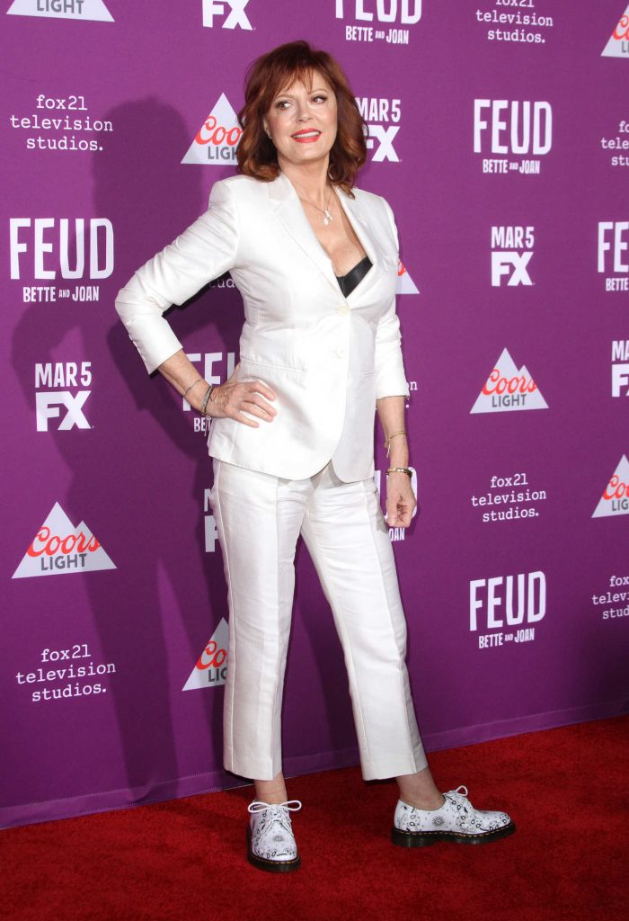 Susan Sarandon at the Feud: Bette and Joan TV Series Premiere in Los Angeles-3