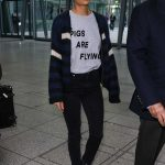 Thandie Newton Arrives at Heathrow Airport in London