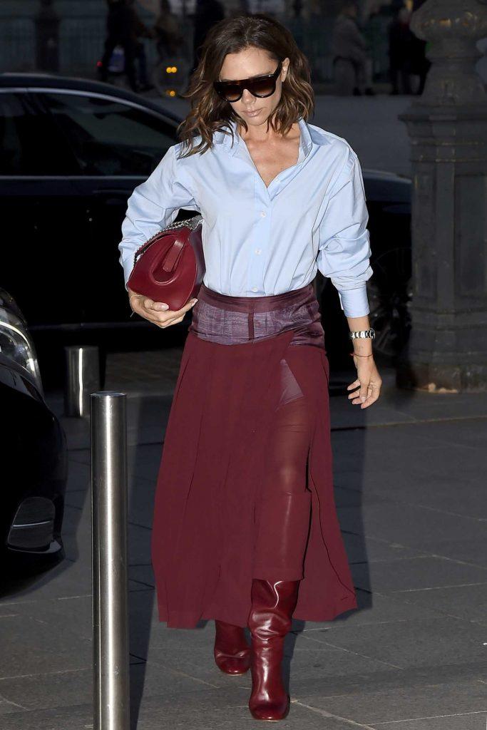 Victoria Beckham Leaves Her otel in Paris-3