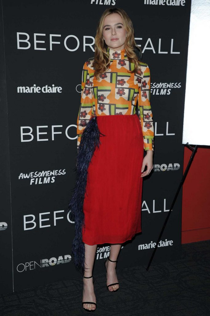 Zoey Deutch at the Before I Fall Screening in New York-1
