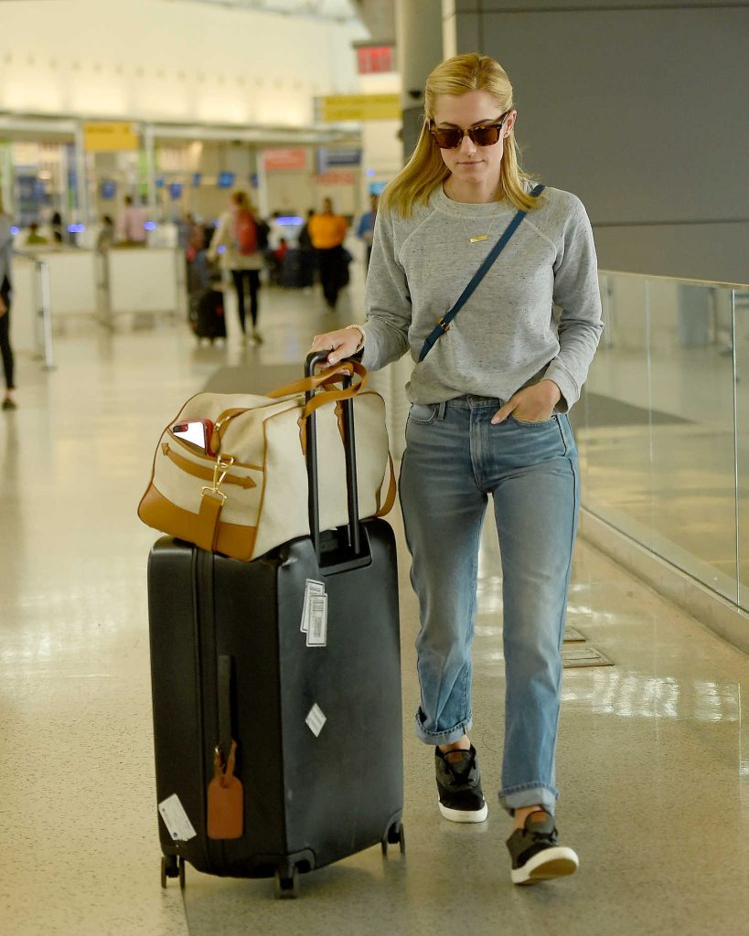Allison Williams at JFK Airport in Queens, New York-3