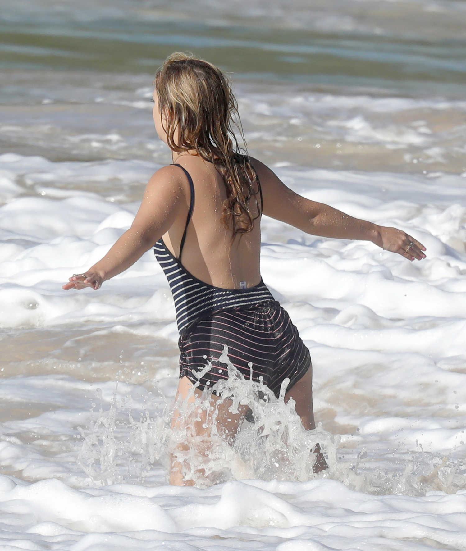 Billie Lourd at the Beach in St. Barts – Celeb Donut
