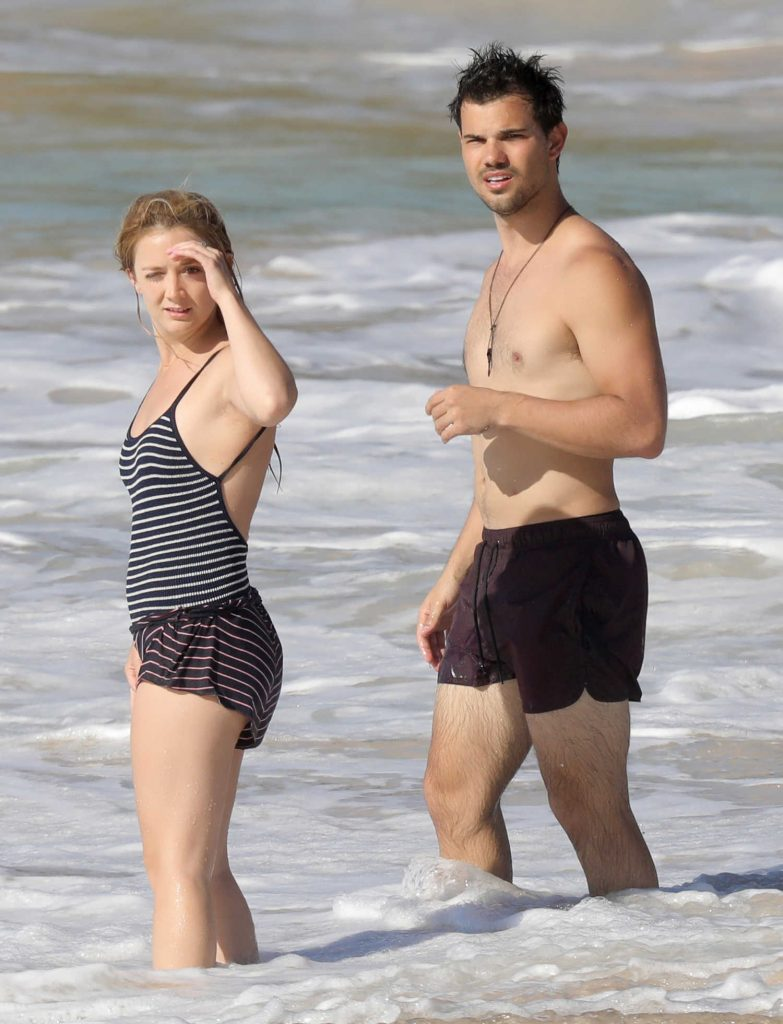 Billie Lourd at the Beach in St. Barts-5