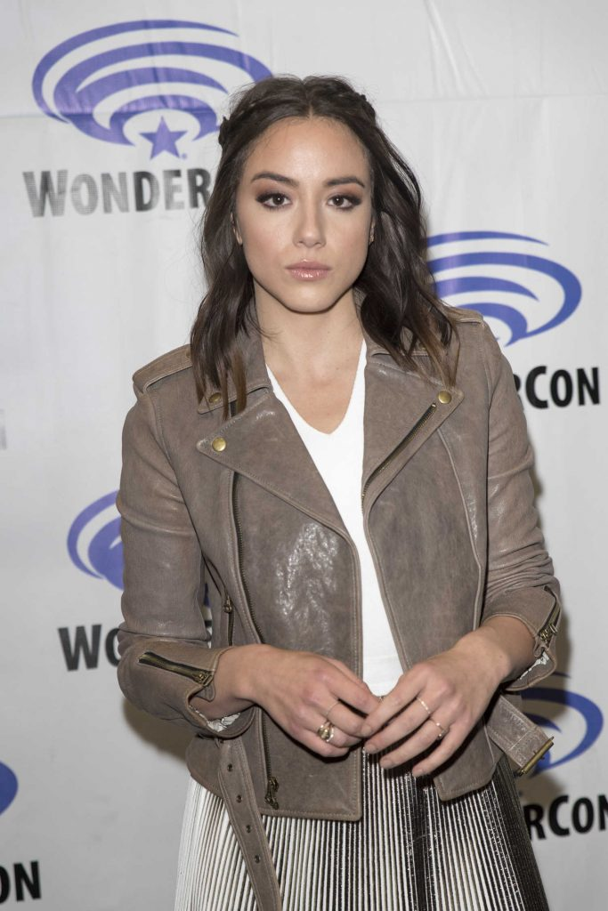 Chloe Bennet at Agents of Shield Press Room at WonderCon in Anaheim-2