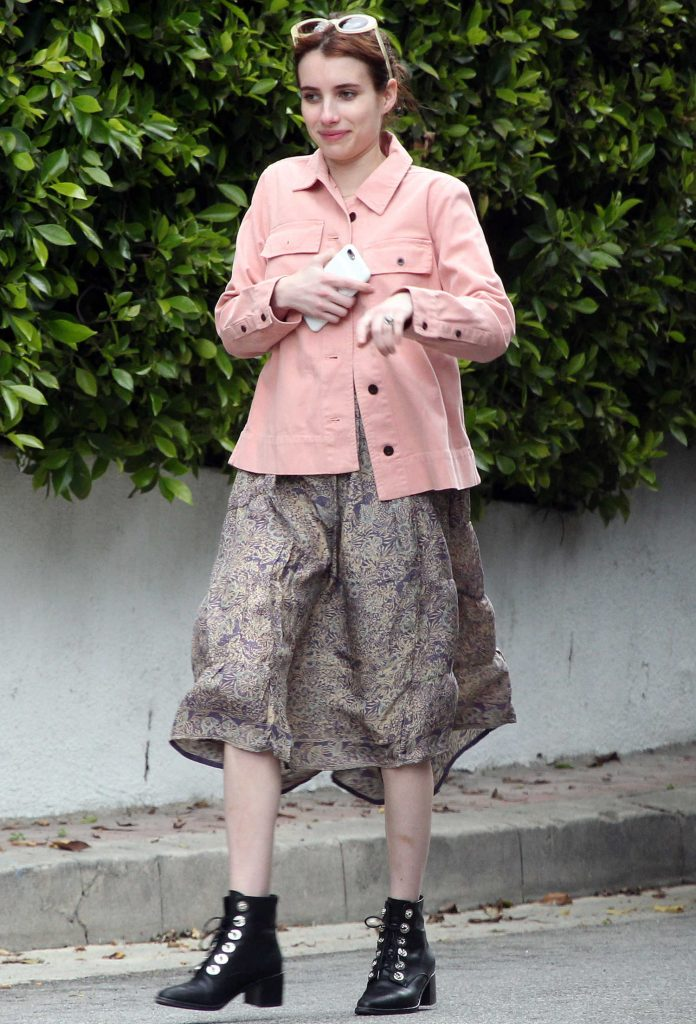 Emma Roberts Was Seen in Hollywood Hills-1
